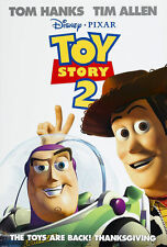 DISNEY TOY STORY 2 Double sided, rolled theater poster Unused condition !