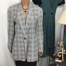 Escadrille Black & White Blazer Womens Jacket Size 8 New Old Stock