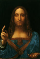 "Leonardo Da Vinci ""Salvator Mundi"" HD Print on Canvas Huge Wall Picture MultiSiz"