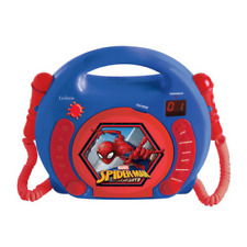 LEXIBOOK SPIDER-MAN CD PLAYER WITH MICROPHONES - BLUE/RED - RCDK100SP