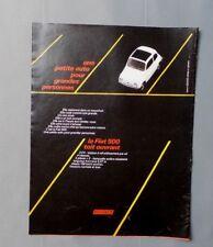 PUB PUBLICITE ANCIENNE ADVERT CLIPPING 150917 / VOITURE FIAT 500 TOIT OUVRANT