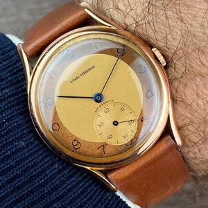 Girard Perregaux 18k SOLID GOLD MEN'S DRESS WATCH from 50's
