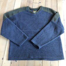 Vintage Y2K Mens Horny Toad Pile Fleece Fuzzy Outdoor Pullover Sweater Green