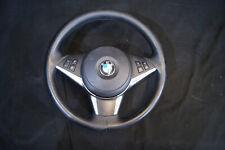 BMW 6 Series E63 E64 Leather Steering Wheel Multi Function Black Airbag