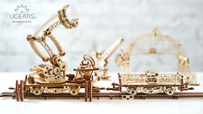 UGears Mechanical Town Rail Manipulator  KIT 3D puzzle Assembly, Self-propelled