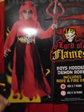 boys fancy dress nwtags boys hooded demon robe (LORD OF FLAMES) age 5-7 years