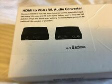 HDMI to VGA + R/L STEREO AUDIO W/ DC Adapter.