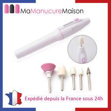 Kit Manucure - Ponceuse à Ongles à Piles - Lime à Ongles Manucure et Pédicure