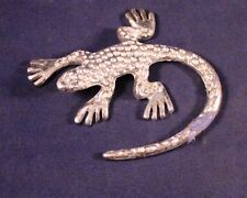 "Awesome 2.5"" Pewter Lizard Figure"