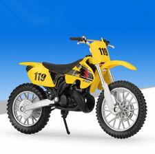 1:18 Maisto SUZUKI RM250 Motorcycle Motocross Bike Model Yellow