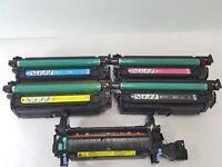 HP 647A 648A CE260A CE261A CE262A CE263A Toner Cartridges + CE246A Fuser