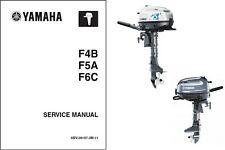 2014-2015 Yamaha F4 F5 F6 Outboard Motor Service Repair Manual CD -- F4B F5A F6C