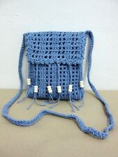 ND 08 CROCHET KNIT SHOULDER BAG S CROSSBODY HANDICRAFT WEAVE SLING HANDMADE HOBO
