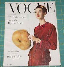 October Vogue 1955 Rare Vintage Vanity Fair Fashion Design Collection Magazine