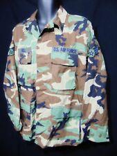 USAF Hot Weather Camouflage Coat Shirt Medium Regular Woodland Combat BDU
