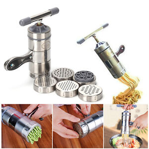 Stainless Steel Manual Noodle Pasta Maker Press Spaghetti Kitchen Machine DIY UK