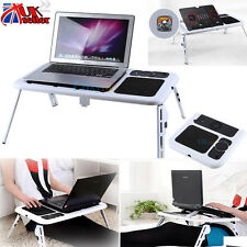 Laptop Lap Desk Foldable Table Bed With USB Cooling Fans Stand TV Tray Holder
