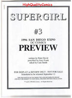 SUPERGIRL #3 Black and White Promo, 1996, VF/NM,  Preview, more in store