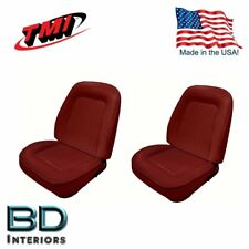 Sport Bucket Seat Upholstery 1967-1968 Camaro Front Set Red Includes Foam