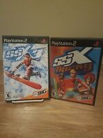 PS2 Game Lot Bundle SSX TRICKY AND SSX 3 Complete and Tested
