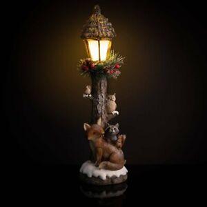 Xmas Window Table Light Up Woodland Lamp Post
