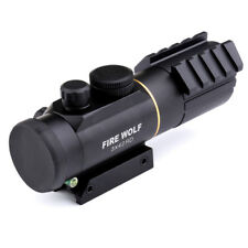 Hunting Rifle Scope 3X42 Red Green Dot Sight Scope Fit 11mm / 20mm Rail