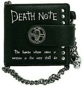 Death Note Wallet With Chain 3 11/16x4 5/16in Pocket Coins Skull Manga Anime