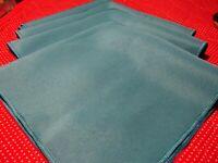 """Vintage Elegant Teal Color Festive Holiday Napkins 17"""" Square ~ Set Of 4     247"""