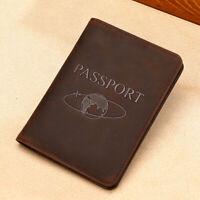 100% Genuine Leather Travel Passport Holder RFID Blocking Business Card  Hodler