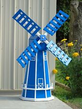 5 ft. Octagon, Poly Dutch Windmill  (Blue with WhiteTrim)