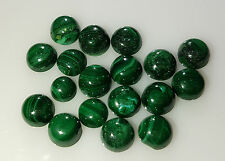Natural Loose Green Malachite Round Cabochon 10mm approx 2pc 10cts Nontreated
