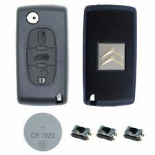 Citroen DIY Repair Kit - 3 Button Remote Car Key Fob Case with VAN Symbol HU83