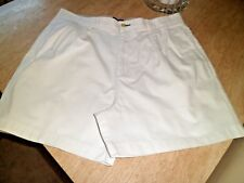 "Tommy Hilfiger 100% Cotton White SHORTS 36"" Waist Worn Once"
