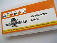 10 x RDMT0803M0 ET602 CARBIDE RDMT FACE MILLING INSERTS EUROPA TOOL EDGE TECH