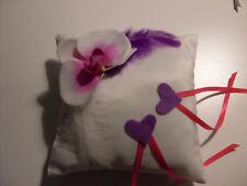 Coussin mariage pour alliances orchidée