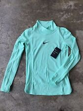 Nike Womens AeroReact Long Sleeve Mint Green Running Shirt [800934-387] Small