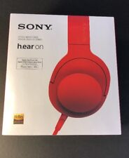 Sony h.ear on Hi-Res Over-Ear WIRED Headphone [ Cinnabar RED Edition ] NEW