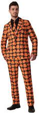 Morris Costumes Men's New Pumpkin Halloween Adult Tie Orange Black Suit. FM75525
