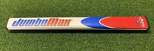 "Jumbomax JMX 17"" Flat Belly - Claw - Armlock Golf Putter Grip Blue/Red/White"