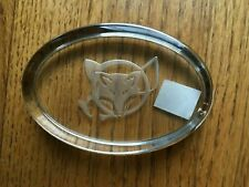 Paperweight with  Fox in a Whip Clear New