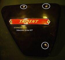 1969-74 Triumph Trident 750, T150V, STAINLESS STEEL ,Oil Tank Side Panel  Screws