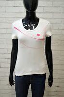 PUMA Maglia Donna Taglia 38 Polo Manica Corta Shirt T-shirt Elastica jersey Hemd