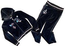 Baby Phat Velour Athleisure Wear Hoodie Jacket & Drawstring Pants Set Size Large