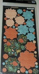 """Graphic 45 Couture Collection Fashion 12"""" Cardstock Tag Flowers"""