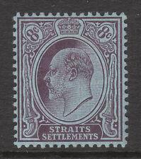 MALAYA STRAITS SETTLEMENT 1904 1905 #131 PURPLE/BLUE/ORD EDV11 MINT STAMP MCA