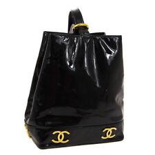 CHANEL Triple CC One Shoulder Bag 2989985 Purse Black Patent Leather A43936d
