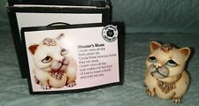 """Vintage Harmony Kingdom Pot Bellys """"Mouser"""" Limited Edition collector's box"""