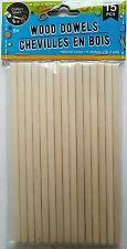 Crafter's Square WOOD DOWELS 0.25 x 6 Inch Wooden Dowel 15 Ct/Pk
