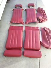 BMW E28 528I 535I SPORT SEAT KIT CLASSIC RED GERMAN VINYL UPHOLSTERY KIT NEW