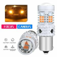 2X Canbus BAU15S 7507 PY21W Amber Yellow LED Turn Signal Brake Light Bulb 1156PY